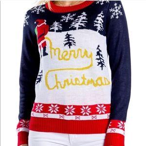 Merry Christmas Santa yellow snow sweater